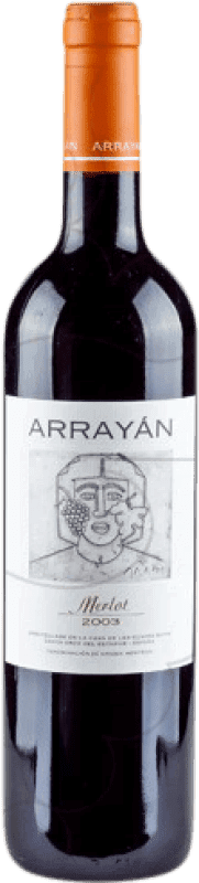 15,95 € Free Shipping | Red wine Arrayán Negre Crianza D.O. Méntrida Castilla la Mancha y Madrid Spain Merlot Bottle 75 cl