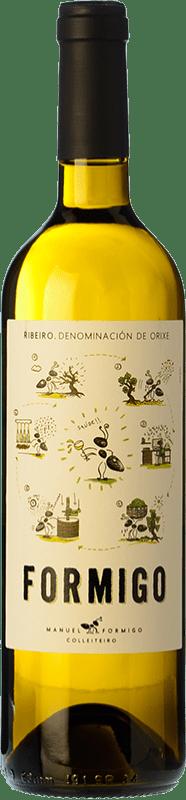 8,95 € Free Shipping | White wine Formigo Joven D.O. Ribeiro Galicia Spain Torrontés, Godello, Loureiro, Palomino Fino, Treixadura, Albariño Bottle 75 cl