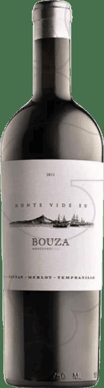 47,95 € Free Shipping | Red wine Bouza Monte Vide Eu Uruguay Tempranillo, Merlot, Tannat Bottle 75 cl