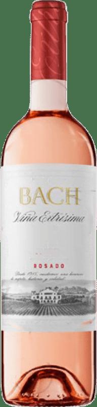 3,95 € Free Shipping | Rosé wine Bach Viña Extrísima Joven D.O. Catalunya Catalonia Spain Tempranillo, Merlot, Cabernet Sauvignon Bottle 75 cl