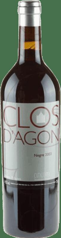 71,95 € Free Shipping | Red wine Clos d'Agón 2003 D.O. Catalunya Catalonia Spain Merlot, Syrah, Cabernet Sauvignon, Cabernet Franc, Petit Verdot Bottle 75 cl