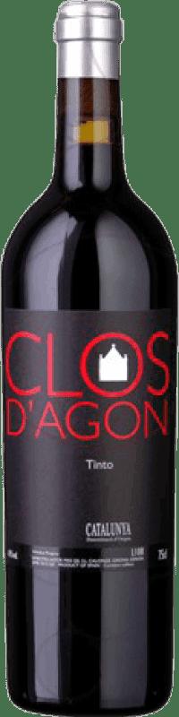 46,95 € Free Shipping | Red wine Clos d'Agón D.O. Catalunya Catalonia Spain Merlot, Syrah, Cabernet Sauvignon, Cabernet Franc, Petit Verdot Bottle 75 cl