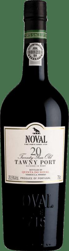 85,95 € Free Shipping | Fortified wine Quinta do Noval 20 Años Oporto I.G. Porto Portugal Tempranillo, Touriga Franca, Touriga Nacional, Tinta Amarela, Tinta Cão, Tinta Barroca Bottle 75 cl