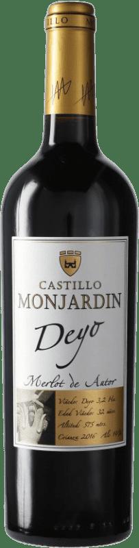 9,95 € Free Shipping | Red wine Castillo de Monjardín Deyo Crianza D.O. Navarra Navarre Spain Merlot Bottle 75 cl