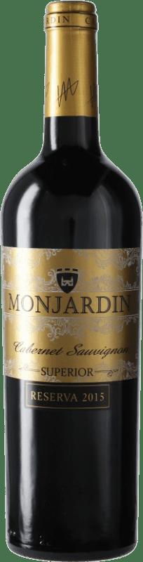 11,95 € Free Shipping | Red wine Castillo de Monjardín Reserva D.O. Navarra Navarre Spain Tempranillo, Merlot, Cabernet Sauvignon Bottle 75 cl