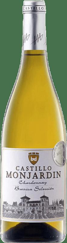 8,95 € Free Shipping | White wine Castillo de Monjardín Fermentado Barrica Crianza D.O. Navarra Navarre Spain Chardonnay Bottle 75 cl