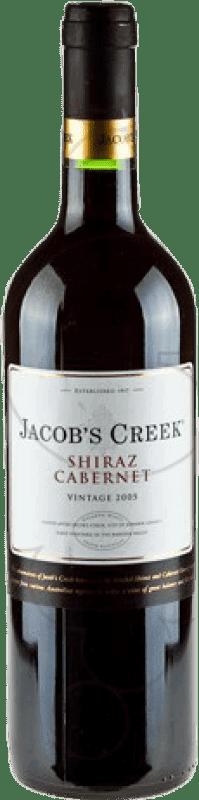 7,95 € Free Shipping | Red wine Jacobs Creek Australia Syrah, Cabernet Sauvignon Bottle 75 cl