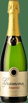 19,95 € Spedizione Gratuita | Spumante bianco Gramona Imperial Brut Gran Reserva D.O. Cava Catalogna Spagna Macabeo, Xarel·lo, Chardonnay Bottiglia 75 cl