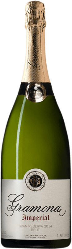 37,95 € Free Shipping | White sparkling Gramona Imperial Brut Gran Reserva D.O. Cava Catalonia Spain Macabeo, Xarel·lo, Chardonnay Magnum Bottle 1,5 L