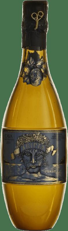 57,95 € 免费送货 | 白起泡酒 Agustí Torelló Kripta Brut Nature Gran Reserva D.O. Cava 加泰罗尼亚 西班牙 Macabeo, Xarel·lo, Parellada 瓶子 75 cl