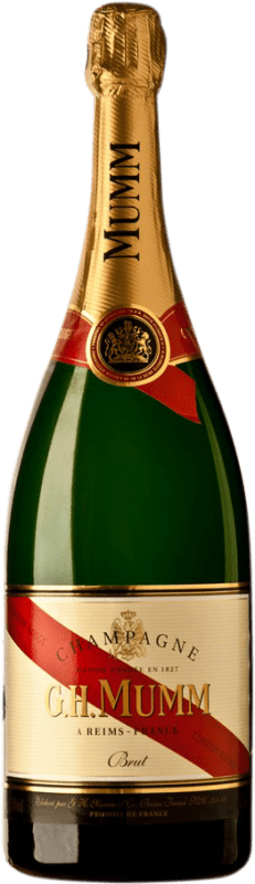 83,95 € | White sparkling G.H. Mumm Cordon Rouge Brut Gran Reserva A.O.C. Champagne France Pinot Black, Chardonnay, Pinot Meunier Magnum Bottle 1,5 L