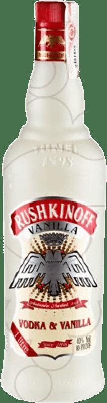 11,95 € Envío gratis | Vodka Antonio Nadal Rushkinoff Vanilla España Botella Misil 1 L