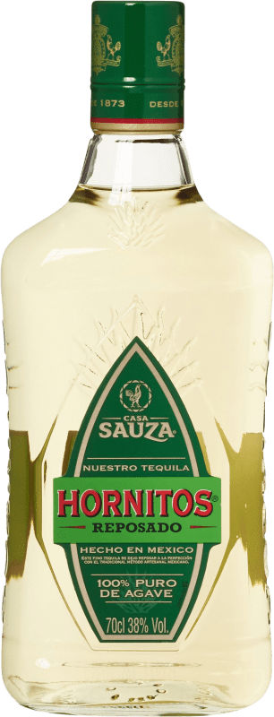 25,95 € Free Shipping | Tequila Suntory Hornitos Blanco Mexico Bottle 70 cl