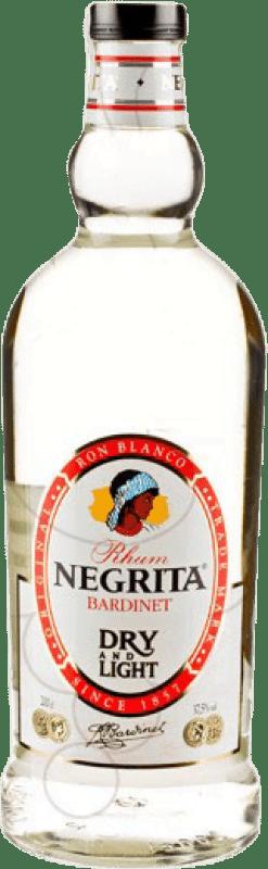 18,95 € 免费送货 | 朗姆酒 Bardinet Negrita Double Silver Blanco 西班牙 特别的瓶子 2 L