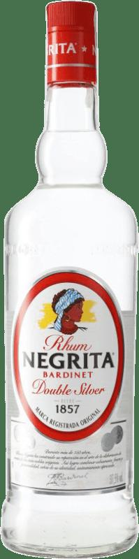 9,95 € 免费送货 | 朗姆酒 Bardinet Negrita Double Silver Blanco 西班牙 瓶子 Misil 1 L