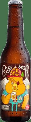 2,95 € 免费送货   啤酒 Barcelona Beer Big Bear Pale Ale Gluten Free 西班牙 Botellín Tercio 33 cl