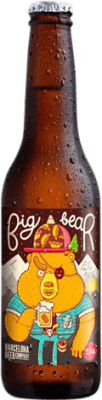 2,95 € | Beer Barcelona Beer Big Bear Pale Ale Gluten Free Spain Botellín Tercio 33 cl