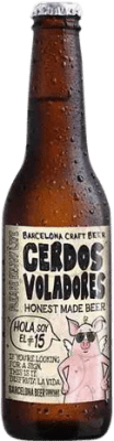 2,95 € | Beer Barcelona Beer Cerdos Voladores IPA Spain Botellín Tercio 33 cl