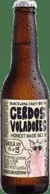 2,95 € Envoi gratuit | Bière Barcelona Beer Cerdos Voladores IPA Espagne Botellín Tercio 33 cl