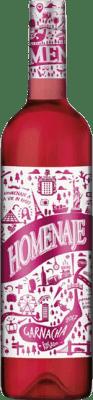 5,95 € Kostenloser Versand | Rosé-Wein Marco Real Homenaje Joven D.O. Navarra Navarra Spanien Grenache Flasche 75 cl