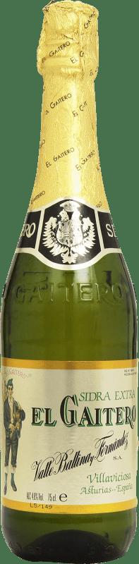4,95 € Envío gratis | Sidra El Gaitero Extra España Botella 75 cl
