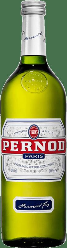 15,95 € Envío gratis | Pastis Pernod 45 Francia Botella Misil 1 L