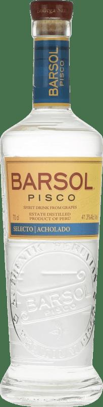 28,95 € Envoi gratuit | Pisco San Isidro Barsol Selecto Acholado Pérou Bouteille 70 cl