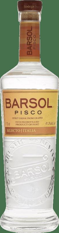 36,95 € Envoi gratuit | Pisco San Isidro Barsol Selecto Italia Pérou Bouteille 70 cl