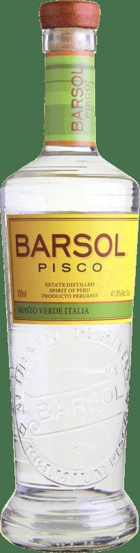 34,95 € 免费送货 | Pisco San Isidro Barsol Supremo Mosto Verde Italia 秘鲁 瓶子 70 cl