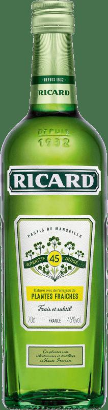 13,95 € Envío gratis | Pastis Pernod Ricard Plantes Fraiches Francia Botella 70 cl