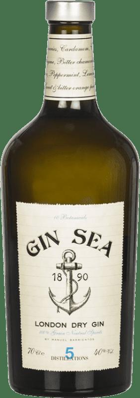 16,95 € 免费送货 | 金酒 Sea Gin 西班牙 瓶子 70 cl