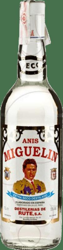 16,95 € Envío gratis | Anisado Anís Miguelín Seco España Botella Misil 1 L