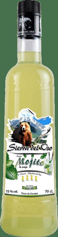 11,95 € Envío gratis | Licores Mojito Sierra del Oso España Botella 70 cl