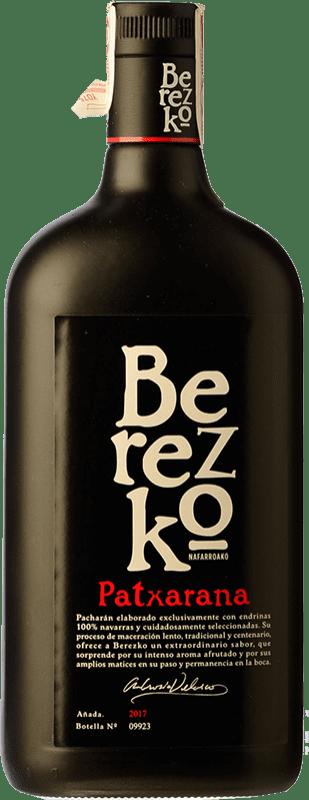 16,95 € 免费送货 | Pacharán Berezko Premium 西班牙 瓶子 Misil 1 L