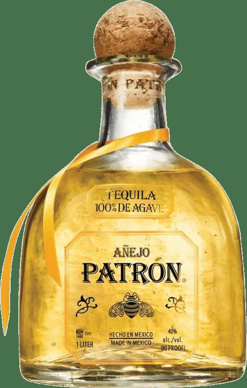 139,95 € Free Shipping | Tequila Patrón Añejo Mexico Magnum Bottle 1,75 L