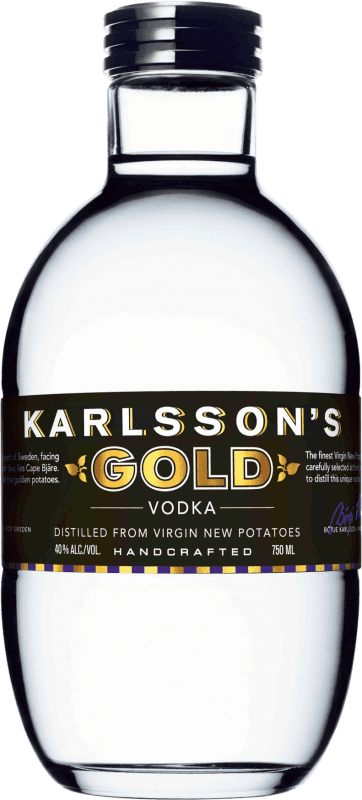 46,95 € Free Shipping | Vodka Karlsson's Gold Sweden Bottle 70 cl