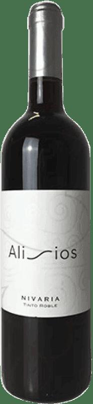 9,95 € Free Shipping | Red wine Alisios Nivaria Crianza D.O. Tacoronte-Acentejo Canary Islands Spain Listán Black, Tintilla, Listán White, Negramoll Bottle 75 cl