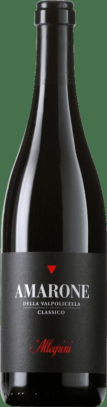 102,95 € Free Shipping | Red wine Allegrini Amarone Classico Crianza Otras D.O.C. Italia Italy Corvina, Rondinella, Oseleta Bottle 75 cl