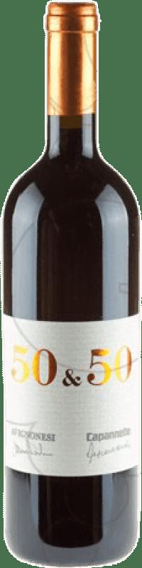 134,95 € | Red wine Capannelle 50 & 50 2008 Otras D.O.C. Italia Italy Merlot, Sangiovese Bottle 75 cl