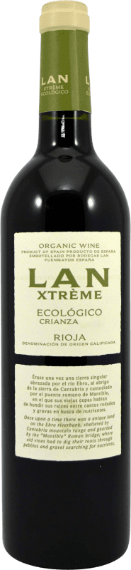 11,95 € Free Shipping | Red wine Lan Xtreme Ecológico Crianza D.O.Ca. Rioja The Rioja Spain Bottle 75 cl