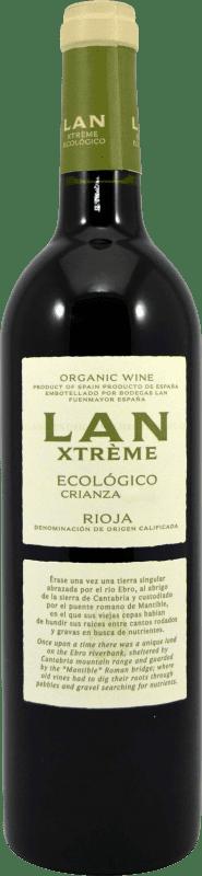 11,95 € Envío gratis | Vino tinto Lan Xtreme Ecológico Crianza D.O.Ca. Rioja La Rioja España Botella 75 cl