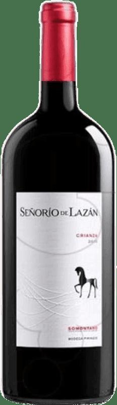 14,95 € 免费送货 | 红酒 Pirineos Señorío de Lazán Crianza D.O. Somontano 阿拉贡 西班牙 Tempranillo, Merlot, Cabernet Sauvignon 瓶子 Magnum 1,5 L