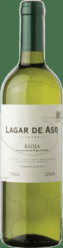 4,95 € Free Shipping | White wine Lagar de Aso Blanc Joven D.O.Ca. Rioja The Rioja Spain Macabeo Bottle 75 cl