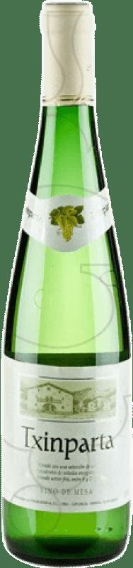 4,95 € Spedizione Gratuita | Vino bianco Txinparta Joven La Rioja Spagna Hondarribi Zuri, Hondarribi Beltza Bottiglia 75 cl