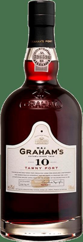 23,95 € Free Shipping | Fortified wine Graham's 10 Años Oporto I.G. Porto Portugal Tempranillo, Touriga Franca, Touriga Nacional, Tinta Amarela, Tinta Cão, Tinta Barroca Bottle 75 cl
