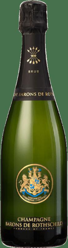 41,95 € Envío gratis | Espumoso blanco Barons de Rothschild Brut Gran Reserva A.O.C. Champagne Francia Pinot Negro, Chardonnay, Pinot Meunier Botella 75 cl