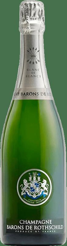 57,95 € Free Shipping | White sparkling Barons de Rothschild Blanc de Blancs Brut Gran Reserva A.O.C. Champagne France Chardonnay Bottle 75 cl