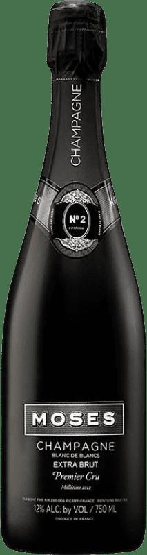 56,95 € | White sparkling Moses Nº 2 Blanc de Blancs Millesime 1er Cru Brut Gran Reserva A.O.C. Champagne France Chardonnay Bottle 75 cl