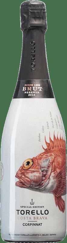 16,95 € Envoi gratuit | Blanc moussant Torelló Costa Brava Brut Reserva D.O. Cava Catalogne Espagne Bouteille 75 cl