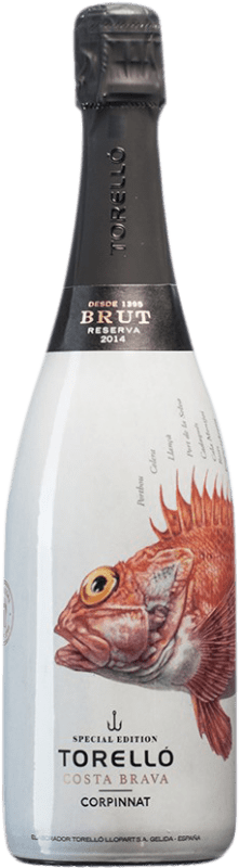 16,95 € Free Shipping | White sparkling Torelló Costa Brava Brut Reserva D.O. Cava Catalonia Spain Bottle 75 cl